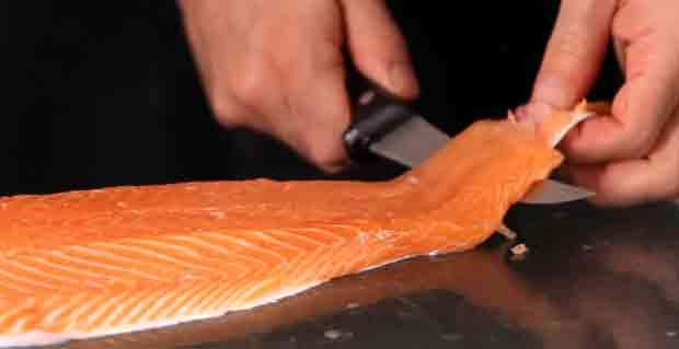 Removing the Skin From a Fillet of Fish
