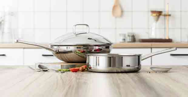 Appearance of Carbon Steel and Stainless Steel Wok