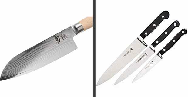Similarities between Shun vs. Henckels knives